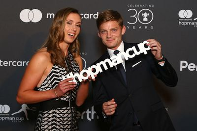 <strong>BELGIUM: Elise Mertens and David Goffin. (Getty)</strong>