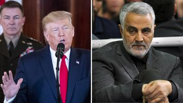 Donald Trump and Qassem Soleimani