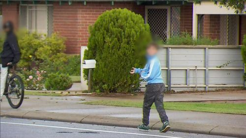 A 9News camera crew were even attacked by the rock throwing vandals while filming on the streets of Rockingham.