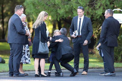 Mourners met at the Crematorium Chapel in Bunbury. (AAP)