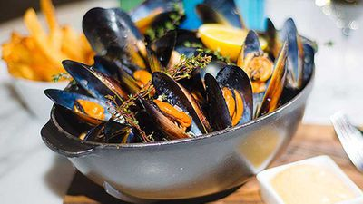 """This dish delivers an impressive finish that looks much more complicate than it is - <a href=""""http://kitchen.nine.com.au/2016/05/05/11/34/neil-martins-butter-mussels"""" target=""""_top"""">Neil Martin's butter mussels</a>recipe"""