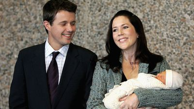 Princess Mary and Prince Frederik welcome their first son, October 2005