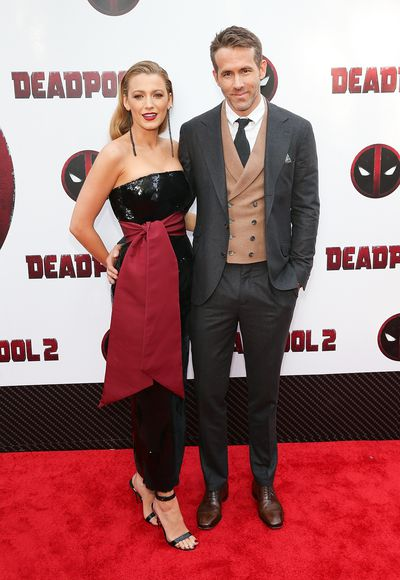 Blake Lively and Ryan Reynolds at the premiere of <em>Deadpool 2</em> on May 14, 2018 in New York City