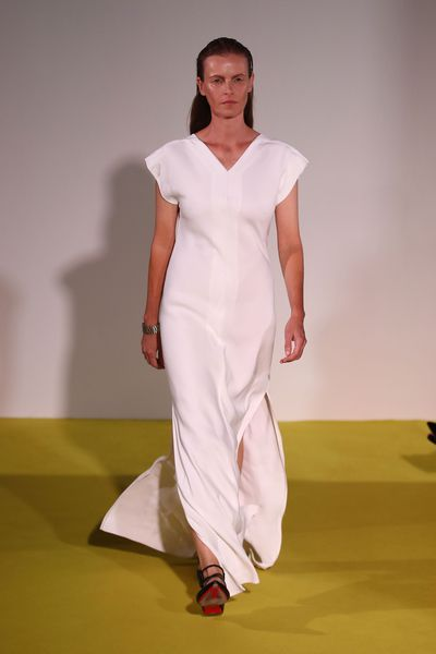 """<p><strong><a href=""""http://style.nine.com.au/2017/05/17/09/42/style_christopher-esber-fashion-week"""" target=""""_blank"""">Christopher Esber</a></strong></p> <p>The opening of this show was truly memorable with three of Australia's top international models, Emma Balfour, Anneliese Seubert and Codie Young setting the tone of pieces that packed strength through the manipulation of masculine codes. The standout piece was a cool cropped trench bolero jacket.</p>"""