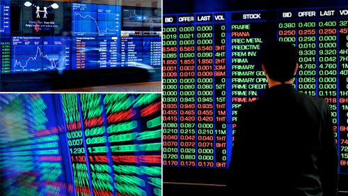 The ASX plunged by $60 billion in one day of trade today. (AAP stock)