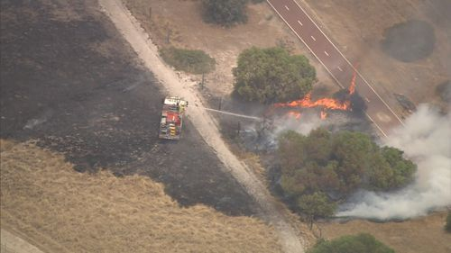 Authorities have warned flare ups are still taking place, posing a danger for fire crews.
