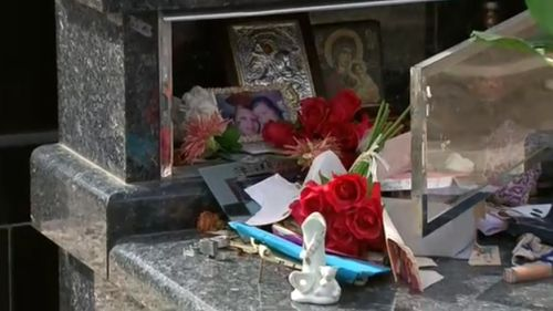A number of graves were trashed by the offenders. (9NEWS)