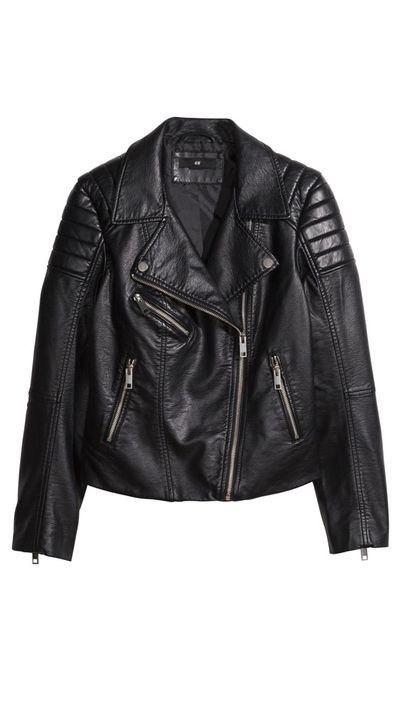 <p>The leather jacket</p>