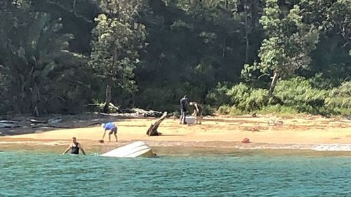 A day out on Sydney water ends in a beach rescue.