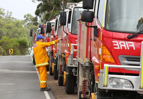 Two hundred firefighters have been battling the fires across the southwest of Victoria. (AAP)