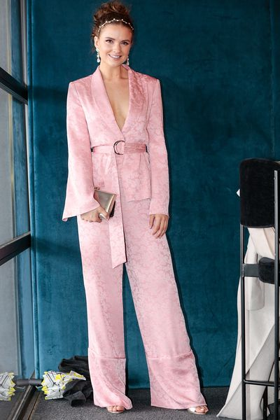 <p>No. 6. Laura Henshaw</p> <p>Style blogger Laura Henshaw at the Caulfield Cup in Forever New.&nbsp;</p>