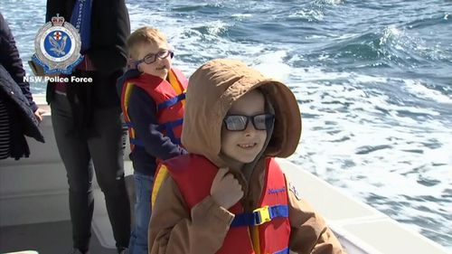 NSW Police took some terminally-ill children for a special outing on Sydney Harbour.