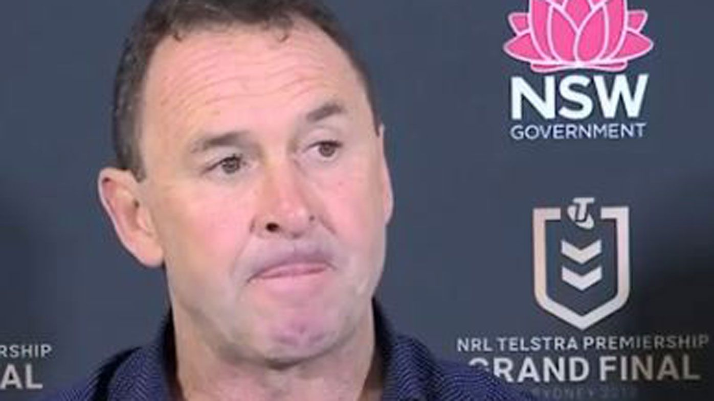 How Ricky Stuart reacted to grand final 'six-again' refereeing shocker