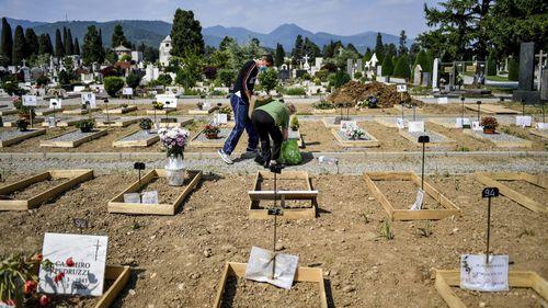 Bergamo cemetery, Italy