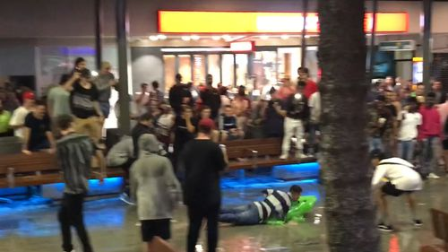 One Schoolie brought a pool toy to the rainy mall. (Shellie Doyle)