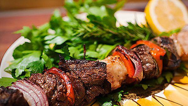 Adrian Richardson's barbecue shashlik beef skewers