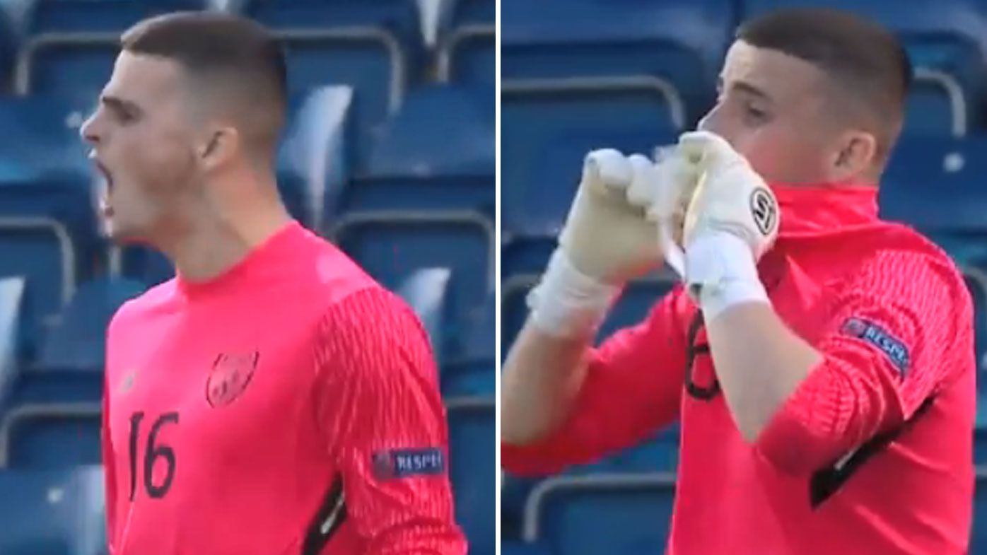 Ireland under-17s goalkeeper Jimmy Corcoran in tears after heartbreaking ruling during European Championship exit