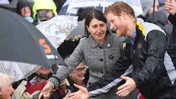 Gladys Berejiklian and Prince Harry. (AAP)