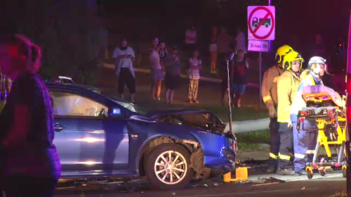 Fourteen others were injured in the crash and the man responsible has since been charged with 13 offences. Picture: 9NEWS.