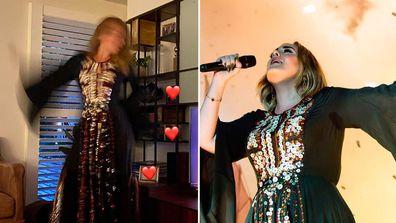 Adele recreates her Glastonbury look