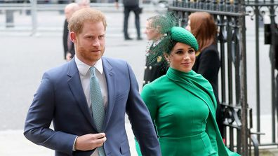 The Duke and Duchess of Sussex attend the Commonwealth Day Service 2020 on March 09, 2020.