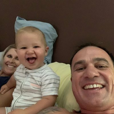 Shannon Noll and son Colton