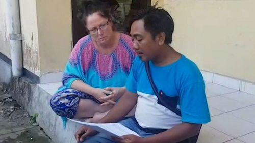 Friend Putu Elma Putrayana has been assisting Ms O'Brien in dealing with police.