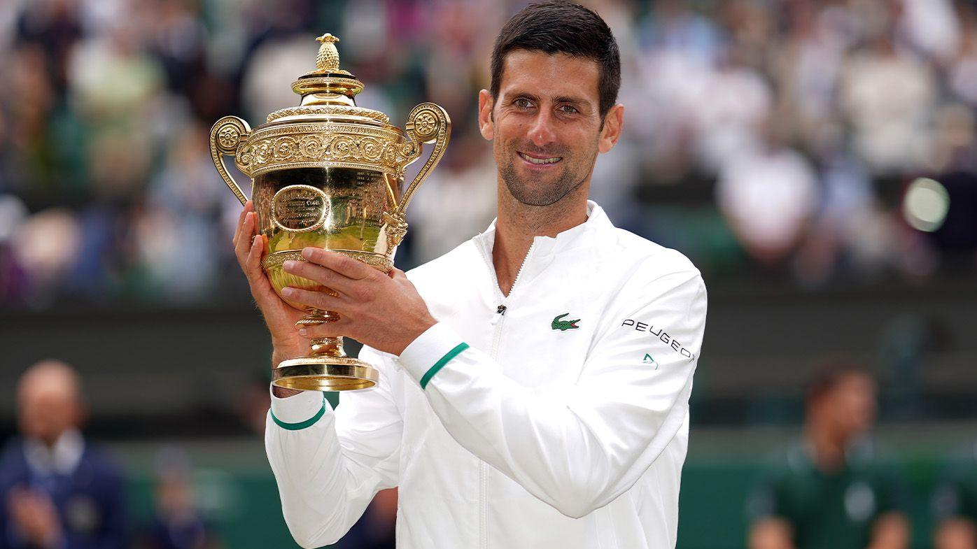 Novak Djokovic's beautiful tribute to Roger Federer, Rafael Nadal after record-matching Wimbledon triumph