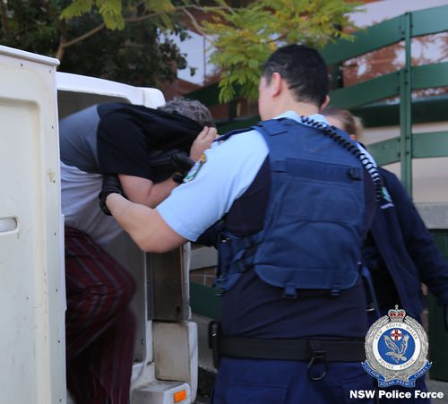 Police conducted early raids on three properties in Sydney's north-west this morning. Picture: NSW Police