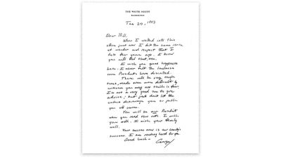 George H W Bush's letter to Bill Clinton