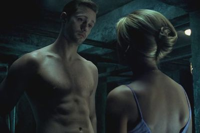 Eric (Alexander Skarsgård) flaunts it for Sookie (Anna Paquin)... and us.