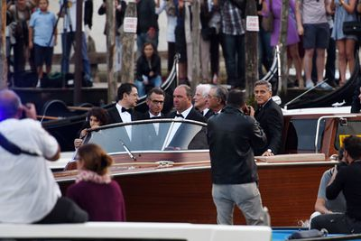 The nuptials took place at Sunset on Saturday, with crowds lining the Grand Canal to cheer on George and his A-list guests, who travelled in style to the seven-star Aman hotel in a flotilla of vintage water taxis. <br/><br/>