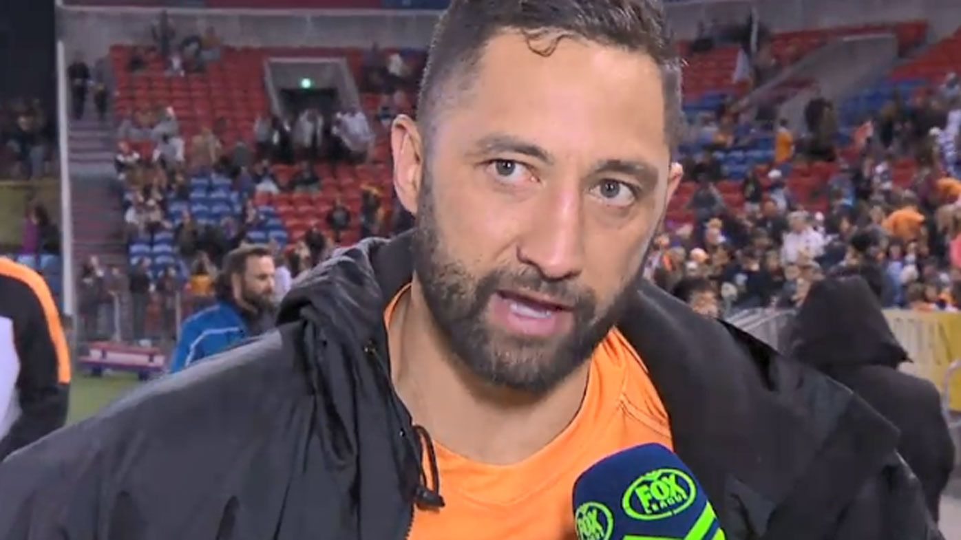 Hobbling Benji Marshall gets teary after Newcastle win