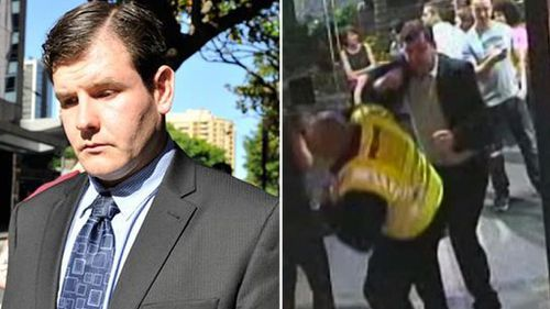 James Longworth to spend at least three years in jail over 'one punch' attack on Sydney security guard