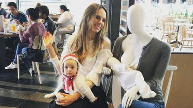 Well, hello there ... nursing mannequins in malls to help mums feel confident.