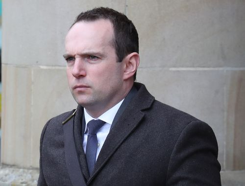 Pathologist John Williams outside the High Court
