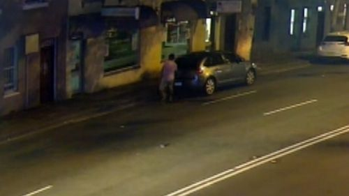 The offender is still believed to be in this car - a blue 2005 Citroen C4 hatchback.