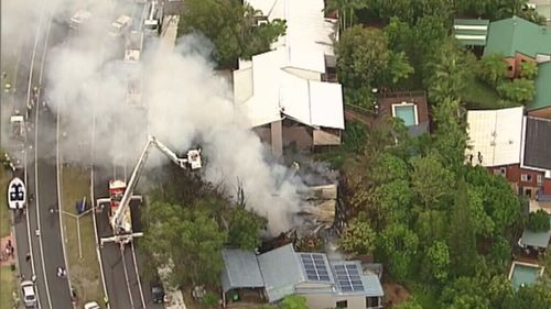 Smoke from the fire could be seen from across the Gold Coast region, as north as Surfers Paradise. (Choppercam)