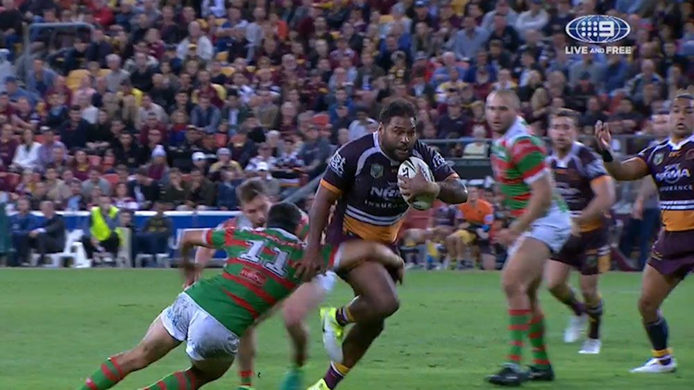 Broncos forward Sam Thaiday silences Origin critics with try in Souths win