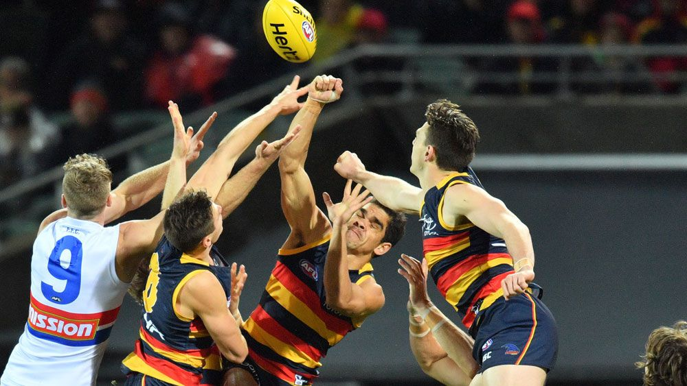 Adelaide had far too much for the Western Bulldogs. (AAP)