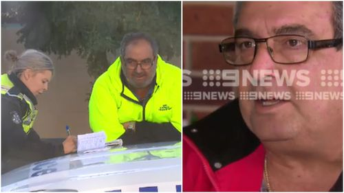 Road rage victim William said he's thinking of leaving his job of 34 years  following the ordeal. (9NEWS)