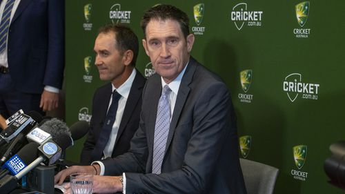 Cricket Australia Chief Executive James Sutherland said Langer was a 'clear standout' for the role. (AAP)