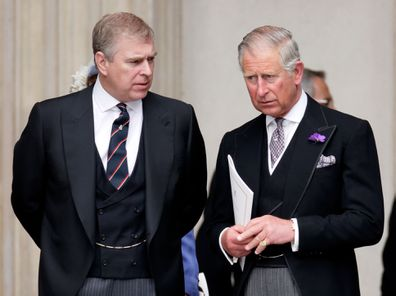 Prince Andrew and Prince Charles in 2012