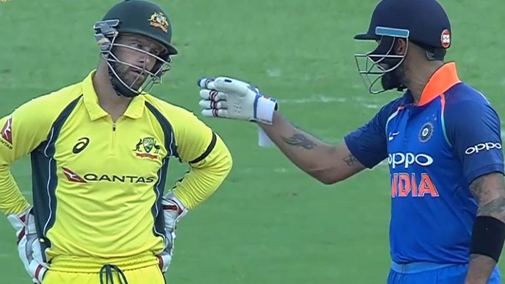 Cricket: Australia's Matthew Wade sledges India's Virat Kohli in second ODI