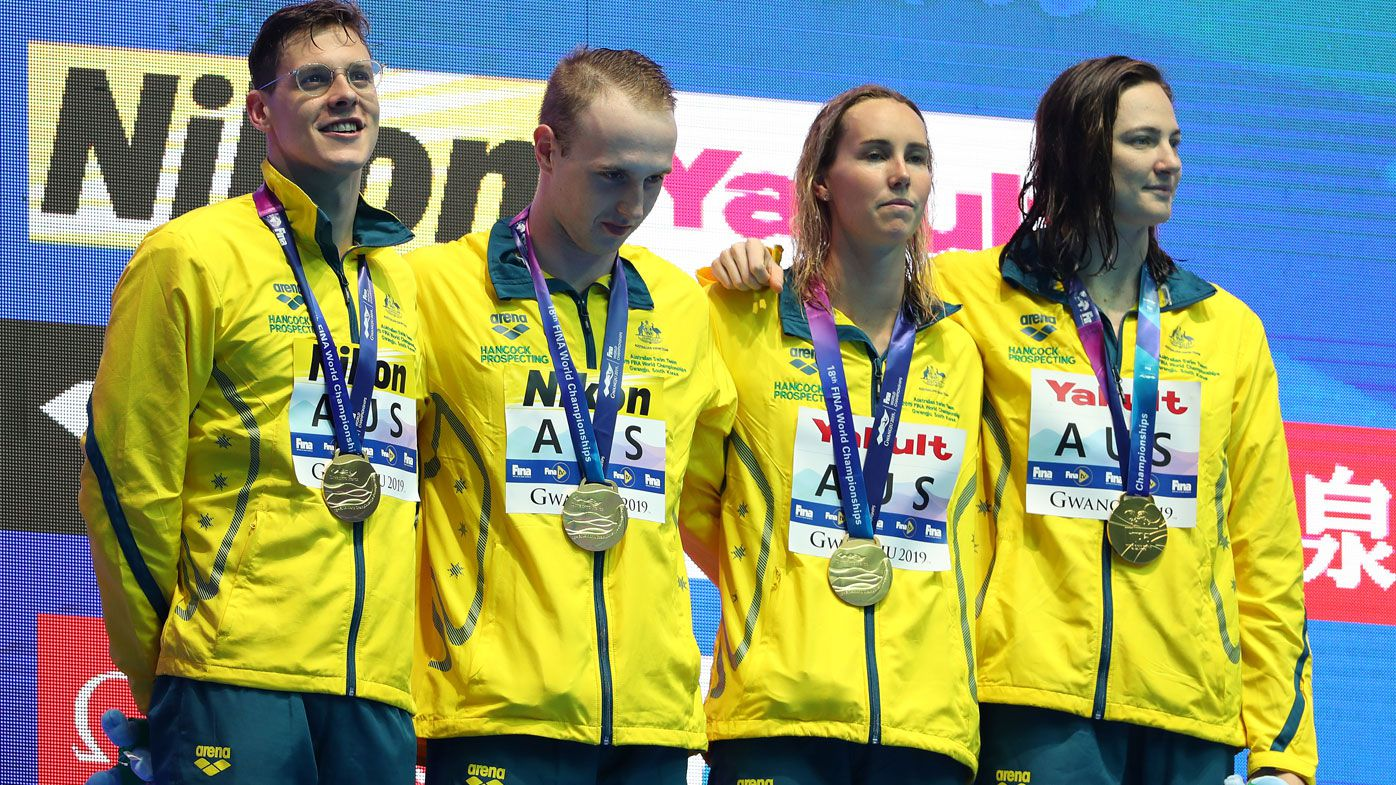 Australia claim gold in the Mixed 4x100m Medley Relay Final on day four of the 2109 FINA World Championships