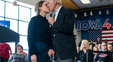 Biden kissing granddaughter on the lips