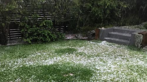 Hail has arrived in Southport on the Gold Coast.