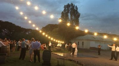 Wedding 'under the stars' forced to shelter in stable as fire approached