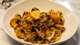 Family Food Fight: The Giles' Pasta a la Vongole with Bottarga and White Wine