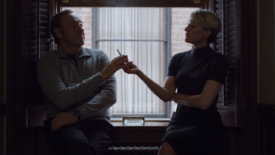 <p>The perfect accessory for any villain is a smoking cigarette and in this scene they share one together, united in their ruthlessness.</p>
